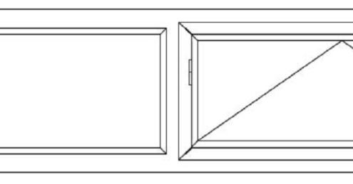 Lichtstraat 2x valraam 2x vast raam